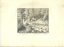 Lot De 2 Eau-fortes Du Mont Saint Odile Hohenburg Hohenbourg  Mur Payen Voie Romaine - Prints & Engravings
