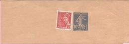 FRANCE. Entier Postal 10 C. Bleu Semeuse Camée N° 279 BJ1 + 30 C.Mercure Rouge N° 412. Sur Bande Pour Journal. Neuve. - Ganzsachen