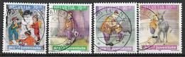 "1999  Schweiz   Mi. 1701-4 Used   ""Pro Juventute"": Kinderbücher – Kinderträume - Usados"