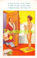 CPA HUMOUR HUMOR  ILLUSTRATEUR  FEMME NU NUE BAIN NUDE LADY WOMAN - Humor