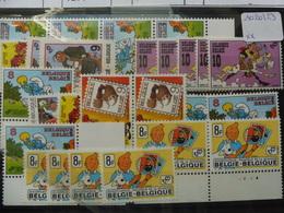 Belgique Bande Dessinée Lot Avec Numero De Planche 4 Au Tintin Et 2 Au Smurf Tous En Etat Neuf ** - Bandes Dessinées