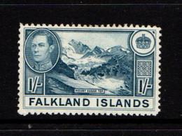 FALKLAND  ISLANDS  1938    1/-  Pale  Blue    USED - Falklandinseln