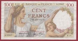 """100 Francs """"Sully"""" Du 19/06/1941.RR.---TTB+--ALPH -A.22937 - 1871-1952 Antichi Franchi Circolanti Nel XX Secolo"""