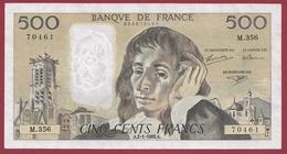 """500 Francs """"Pascal"""" Du 02/01/1992.A.---SUP--ALPH -M.356---AUCUN TROU D EPINGLE - 1962-1997 ''Francs''"""