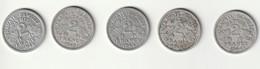 """2 Francs """"LB"""" Bazor - 1943- 1943B- 1944- 1944B- 1944C - France"""