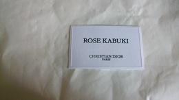Carte Parfumée DIOR Rose Kabuki - Cartes Parfumées