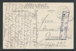 Feldpostkarte Verstuurd Uit Selzaete - Esercito Tedesco