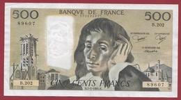 """500 Francs """"Pascal"""" Du 05/01/1984.H.---SUP--ALPH -B.202 - 1962-1997 ''Francs''"""
