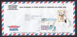 Ecuador: Airmail Cover To Netherlands, 2 Stamps, Olympics Seoul, Tiger, Weightlifting, Logo (ugly Cancel) - Equateur