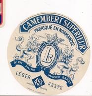 ETIQUETTE DE FROMAGE   CAMEMBERT  SUPERIEUR  NORMANDIE - - Cheese