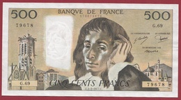 """500 Francs """"Pascal"""" Du 03/02/1977.C.---SUP--ALPH -G.69 - 1962-1997 ''Francs''"""