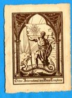 NY467, Carte De Membre , Ordre International Des Bons Templiers, Suisse, Schweiz, Switzerland,1925 - Altri
