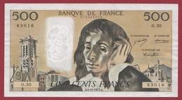 """500 Francs """"Pascal"""" Du 04/10/1973.A.---TTB+--ALPH -O.30 - 1962-1997 ''Francs''"""