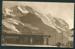 1917 Switzerland Jungfrau Bahn Postcard. Wengernalp - Scheidegg Railway. Censor - Mytilene Lesbos Greece - Storia Postale