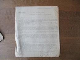 CAMBRAI LE 25 SEPTEMBRE 1940 LE SOUS-PREFET CIRCULAIRE NE PLUS UTILISER LA POSTE J'ENVERRAI UN MOTOCYCLISTE LE CYCLISTE - Documents Historiques
