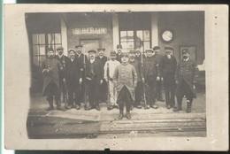 Carte Photo St Berain ( Sur Dheune ) - GVC - Gardiens Des Voies De Communication - WW1 - Non Circulée - Etat Moyen - Other Municipalities