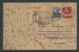 Kaart Verstuurd Naar Genève En Diverse Malen Doorgestuurd - Guerre 14-18