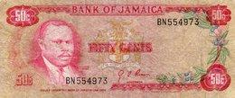 JAMAICA 50 CENTS 1970 P-53a.1 CIRC. - Jamaica