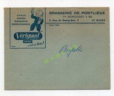ENVELOPPE - 72 - LE MANS - BRASSERIE DE PONTLIEUE - Mme MONGONDRY - SODA VERIGOUD - Alimentare