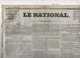 LE NATIONAL 07 02 1831 - DUC DE NEMOURS ELU ROI DES BELGES - GAND - RUSSIE / POLOGNE - ALGER - LA TOUR DU PIN ... - Journaux - Quotidiens