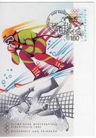 Liechtenstein: MK Nr.105 Olympische Winterspelen Albertville '92 - Maximum Cards