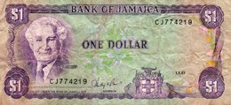 JAMAICA 1 DOLLAR 1987 P-59  CIRC. - Jamaica