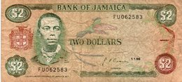 JAMAICA 2 DOLLARs 1990  P-69  CIRC. - Jamaica