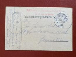 K.U.K. FELDPOSTAMT 281 - 10 IV 17 - Guerre 1914-18
