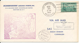USA SAS First Trans Arctic Flight Los Angeles - Copenhagen Via Greenland 19-11-1952 - Voli Polari