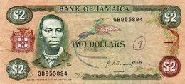 JAMAICA 2 DOLLARS 1992  P-69  CIRC. - Giamaica