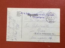 K.U.K. HAUPTFELDPOSTAMT 195 / IV  - 26 IX 17 - Guerre 1914-18