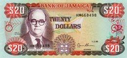 JAMAICA 20 DOLLARS 1995  P-72e  UNC - Jamaique