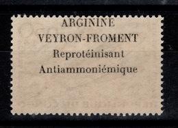 Congo - Rare Publicite ARGININE VEYRON Froment Au Dos Du 0,50 Franc Poissons N** - Congo - Brazzaville