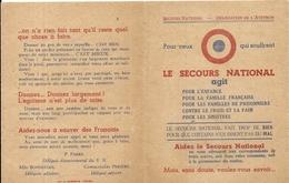 GUERRE 39/45 . DEPLIANT SECOURS NATIONAL AVEYRON - Documents