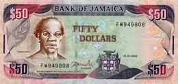 JAMAICA 50 DOLLARS 2002  P-79c  XF+ - Jamaica