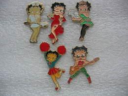 Lot De 5 Pin's Betty Boop - Pin-ups