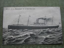 """ANTWERPEN - RED STAR LINE - SS """"MENOMINEE"""" 1912 - Antwerpen"""