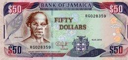 JAMAICA 50 DOLLARS 2010  P-83e  UNC - Jamaica