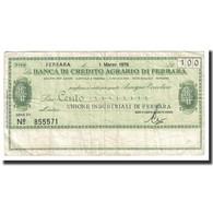 Billet, Italie, 100 Lire, 1976, 1976-03-01, TB+ - [10] Assegni E Miniassegni