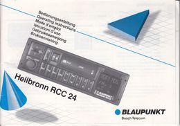 (AD377) Original Anleitung BLAUPUNKT Heilbronn RCC24 Mit Einbauanleitung, Neuwertig - Shop-Manuals