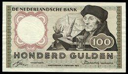 """:Netherlands  -  100 Gulden 2-2-1953 """"Erasmus"""" NO : 5 UG 092111 - [2] 1815-… : Regno Dei Paesi Bassi"""