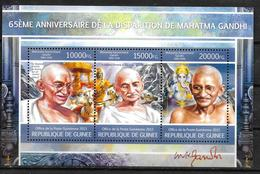 GUINEE  Feuillet N° 6703/05 * * ( Cote 22.50e ) Gandhi - Mahatma Gandhi