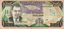 JAMAICA 100 DOLLARS 1987  P-74a.2  CIRC. - Jamaica