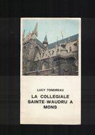 MONS LA COLLEGIALE SAINTE WAUDRU LIVRET DE32P EDITE EN JUIN 1972 PAR LA FEDERATION DU TOURISME DE LA PROVINCE DE HAINAUX - Cultural