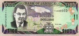 JAMAICA 100 DOLLARS 2003  P-80c  CIRC.xf+ - Jamaica