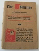The Philistine Protest Billysgait Bob Ingersoll Chalmers Motor Company Conklin - Livres, BD, Revues