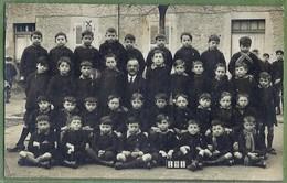 CARTE PHOTO TOP ANIMATION - VILLEFRANCHE SUR SAONE - PHOTO DE CLASSE 1934 - ÉTABLISSEMENT SCOLAIRE A IDENTIFIER - Villefranche-sur-Saone