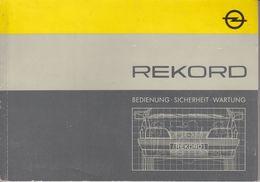 (AD379) Original Anleitung OPEL Rekord, Auflage November 1985, Deutsch - Herstelhandleidingen