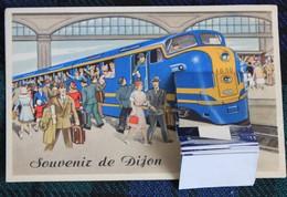 Carte A Système    Train, Souvenir De Dijon - Dijon