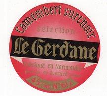 Mar20  61036    étiquette Camembert  Le Gerdane - Cheese